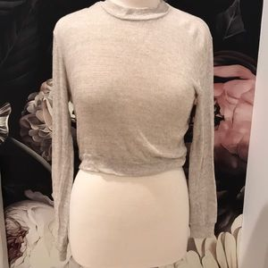 Brandy Melville sz s l/s top TAN